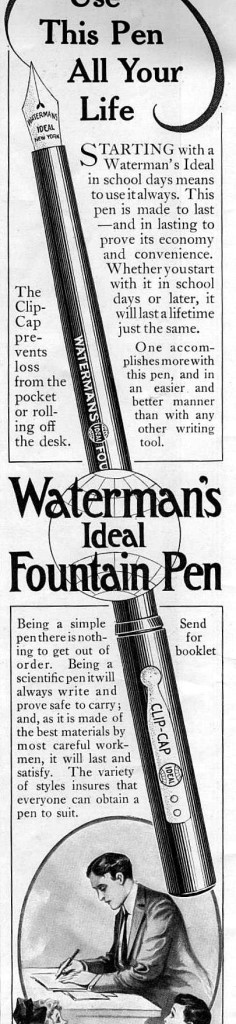 Waterman's Ideal Fountain Pen, 1909