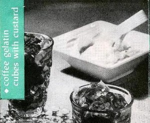 A recipe from 1947 for Coffee Gelatin Cubes