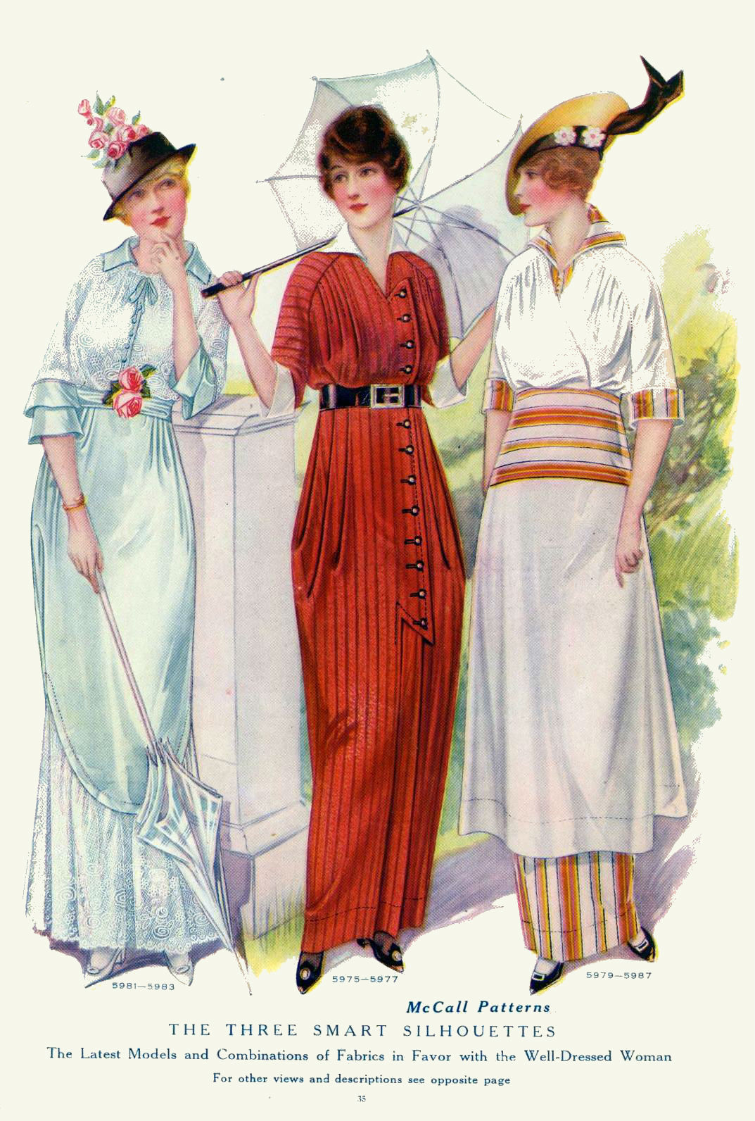 Vintage Fashion Plates From 1914