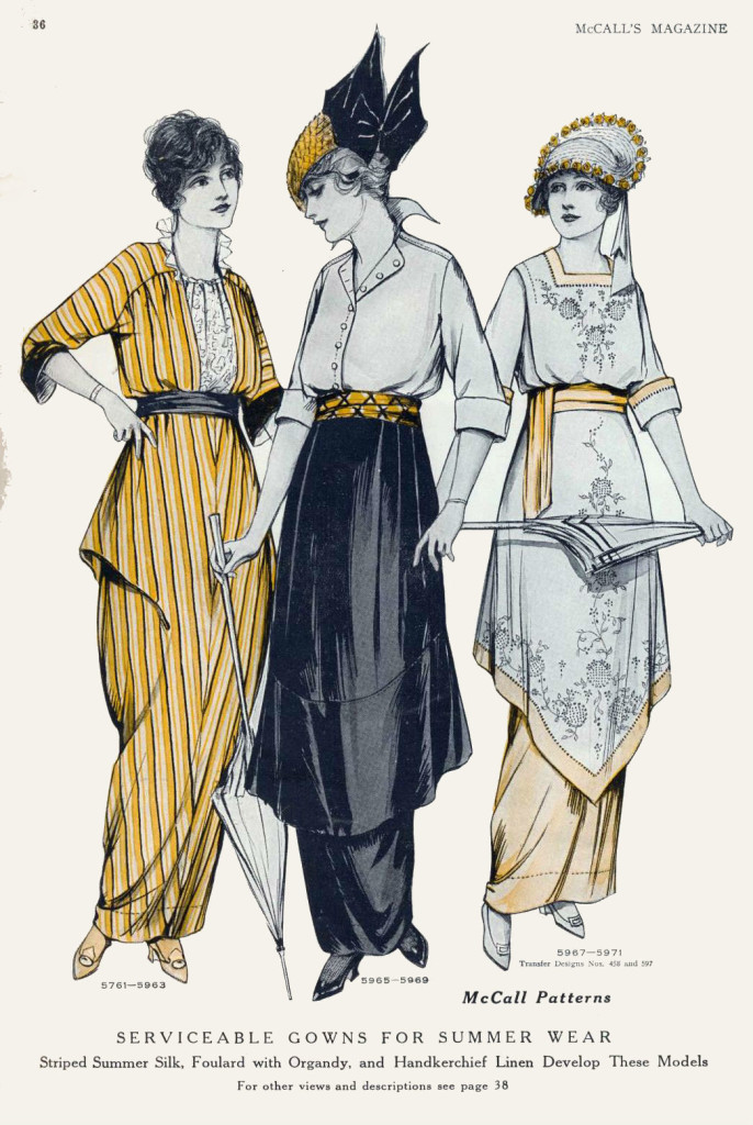 Serviceable gowns for summer wear