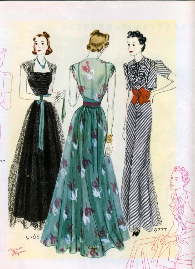 Evening gowns, 1938