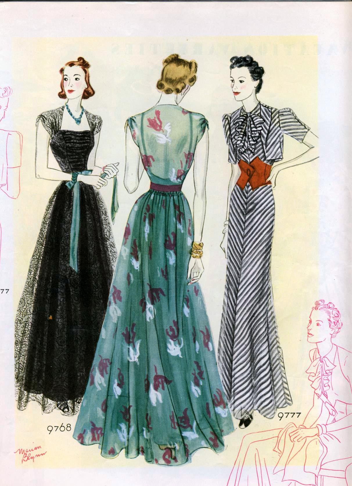 Fashion illustrations from 1938