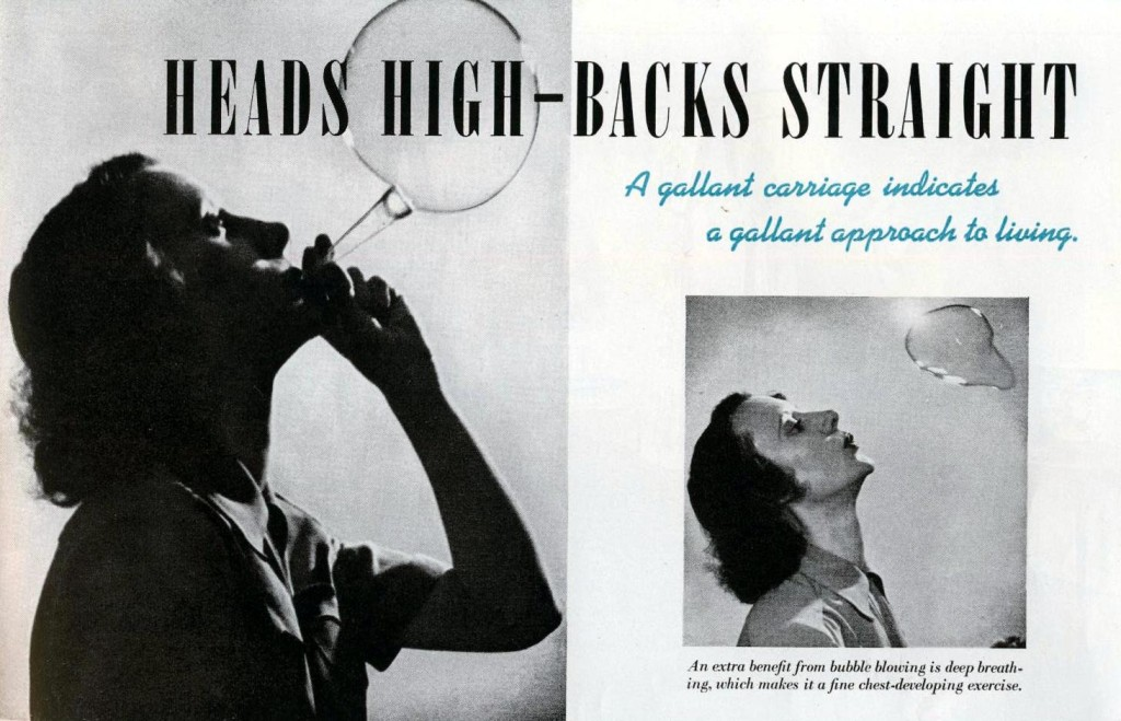 Improving the Throat Line, 1942 - from thevintagesite.com
