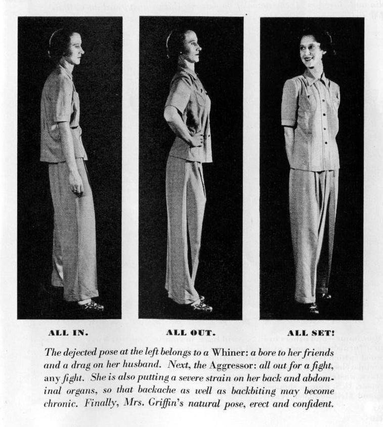 Posture is the beginning of poise, 1942 - from thevintagesite.com