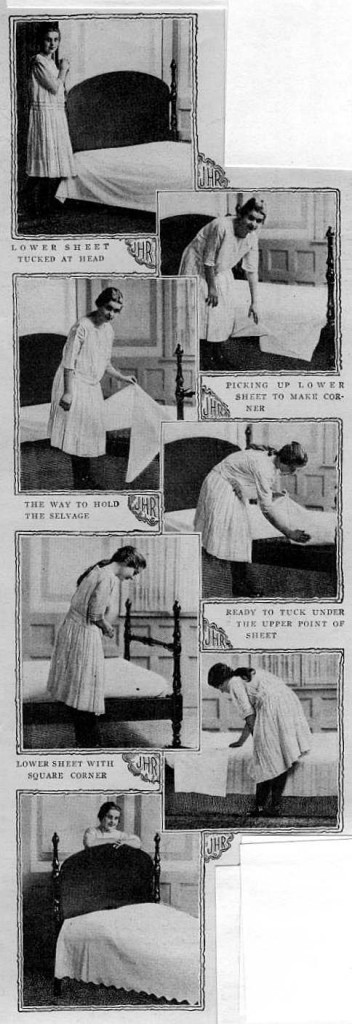 Making the bed, 1917