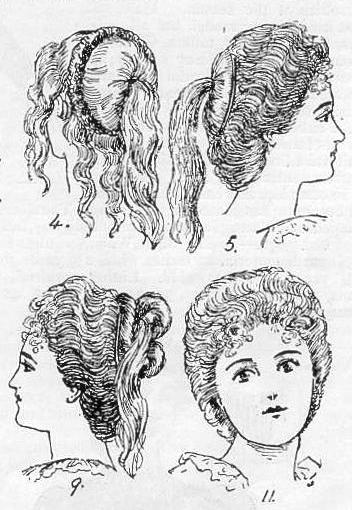 The fashionable high coiffure , 1899 from thevintagesite.com