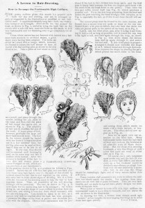 Complete instructions for the high coiffure, 1899