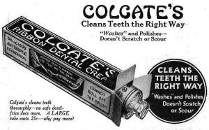 Colgate's Ribbon Dental Cream, 1923