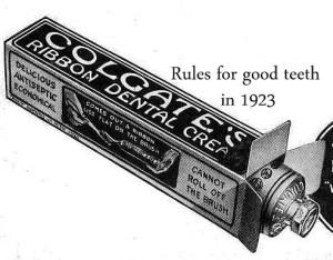 1923 ad for Colgate Ribbon Dental Cream