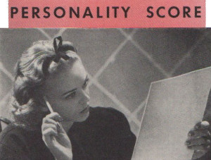 Personality Test from 1939