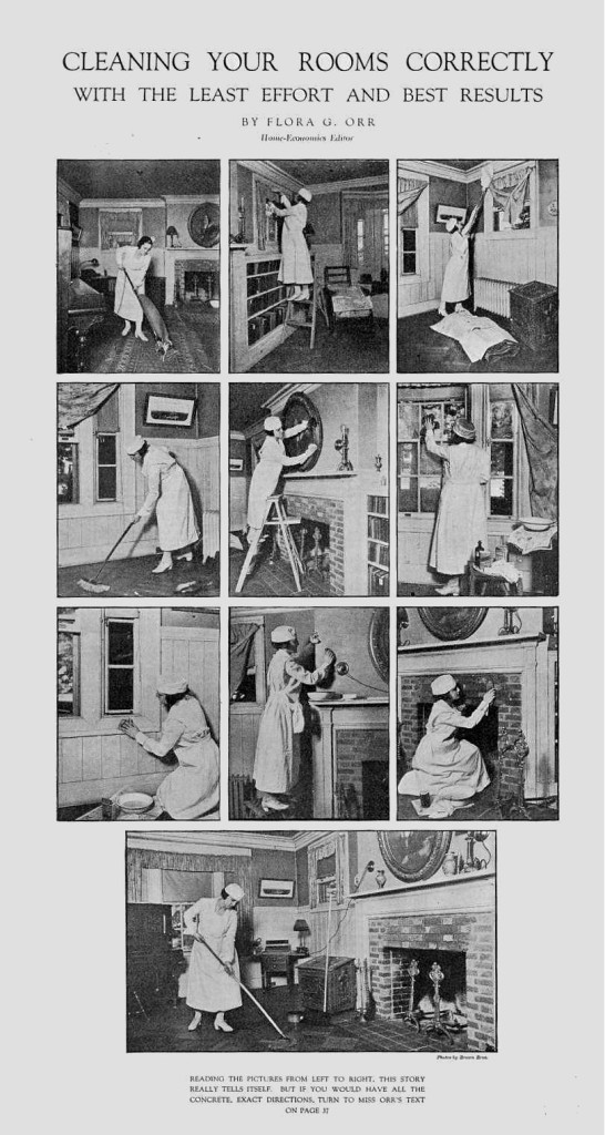 How to clean your rooms with the best results and least effort, 1920