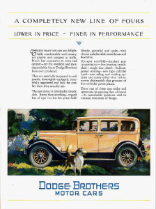 Vintage Dodge Car ad, 1927