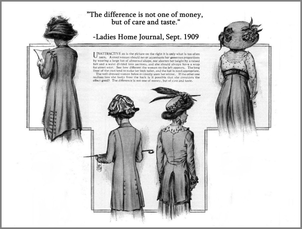 Women as seen from the back, 1909