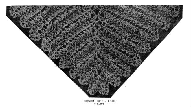 Crochet Two Pretty Shawls, 1899