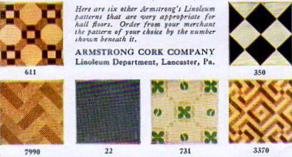 Armstrong's Linoleum Ad, 1919
