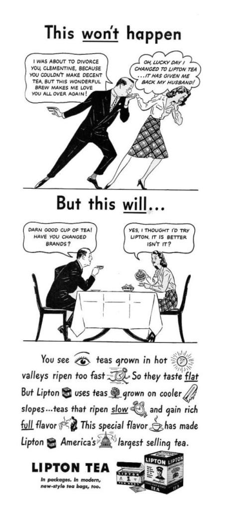 Lipton Tea ad, 1942