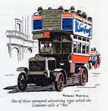 Traveling in London, England in 1924