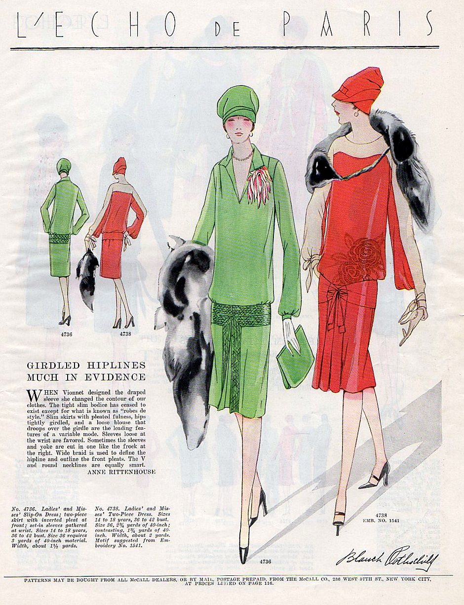 McCall's fashion illustration from the 1920's