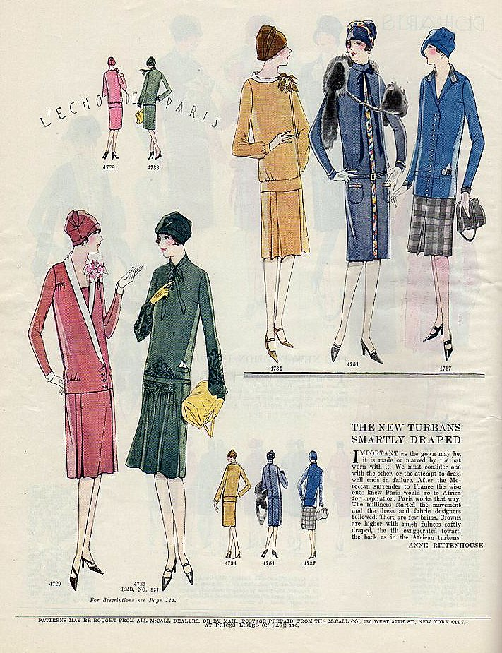 1920's fashion illustration from McCall's magazine