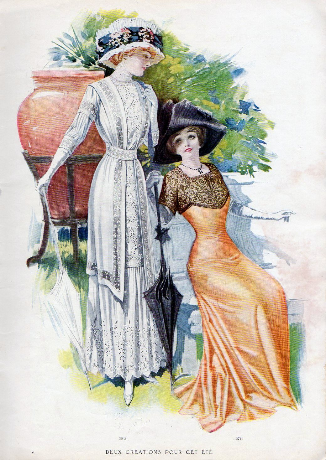 Vintage French Fashion From 1910