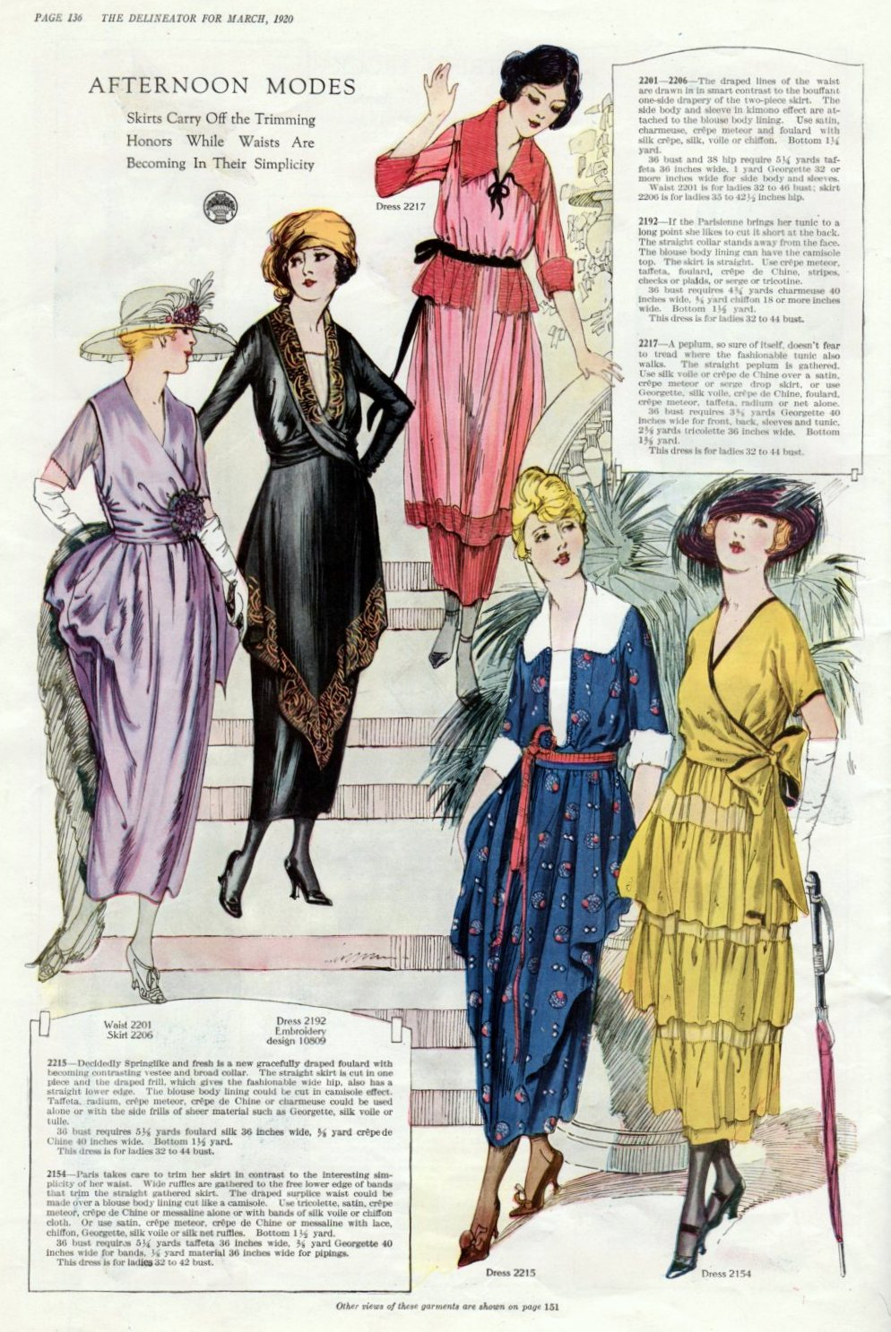 1920 Fashions From Delineator Magazine
