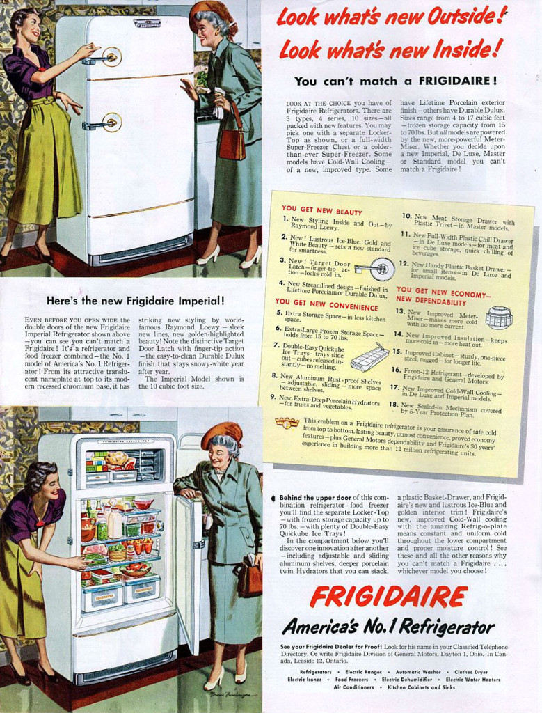 Ad for the Frigidaire Imperial from 1950