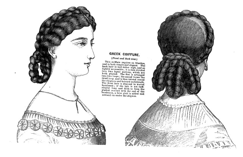 Instructions for a victorian hair style, from 1866