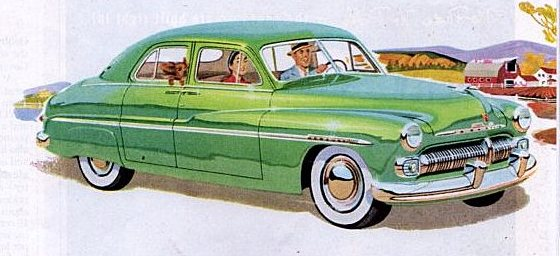 vintage ad for Mercury cars, 1950