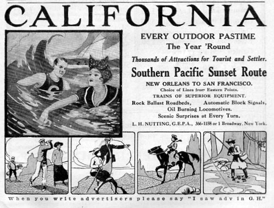 Vacation in California, 1910