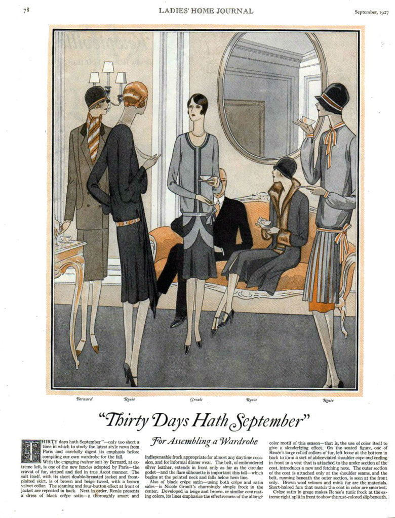 1927 vintage fashion from Groult