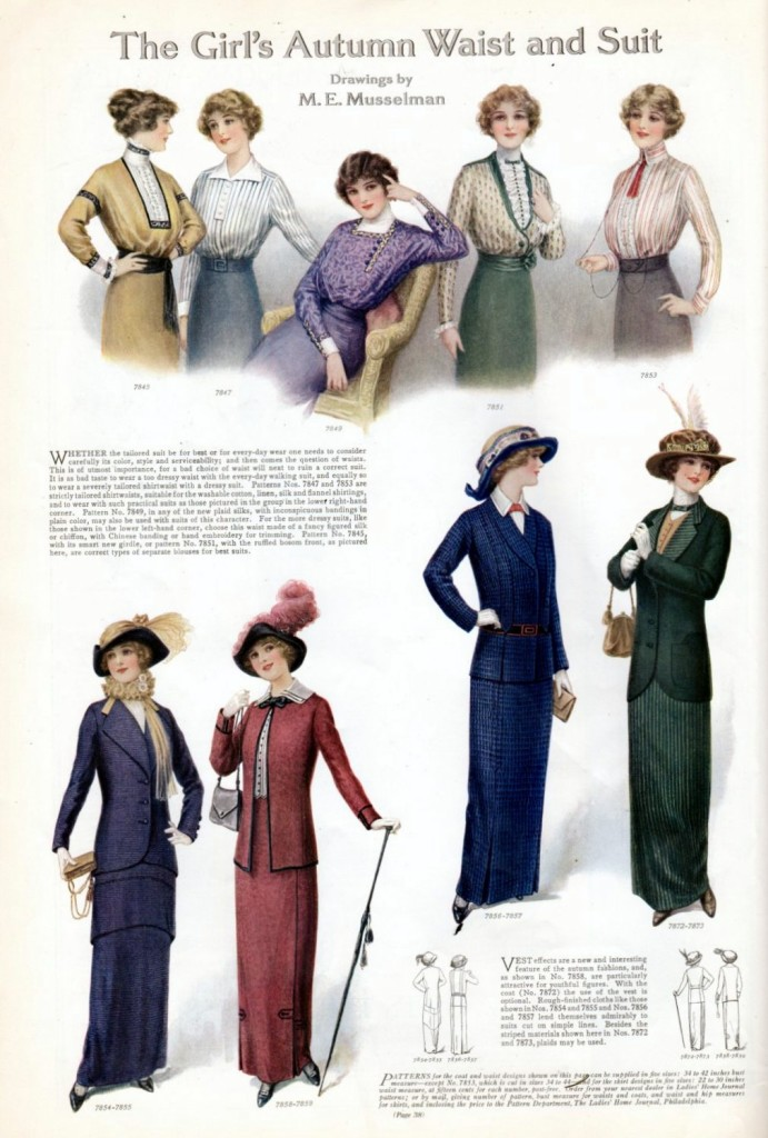 Girls fashion from 1913