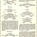 Vintage Halloween Party Menu, 1931