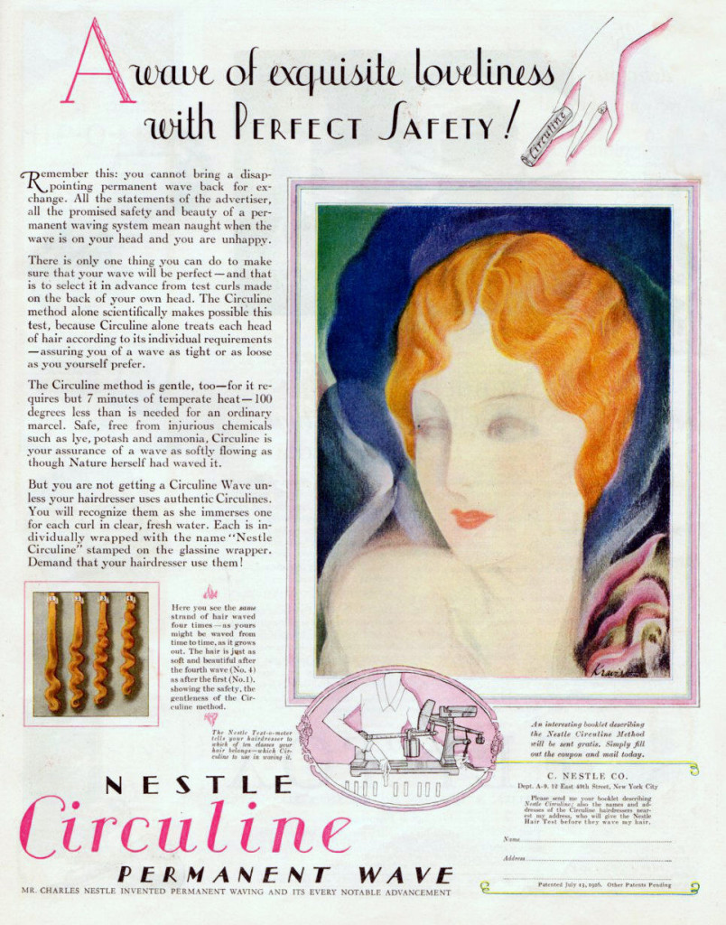 Vintage Nestle Permanent Wave, 1927