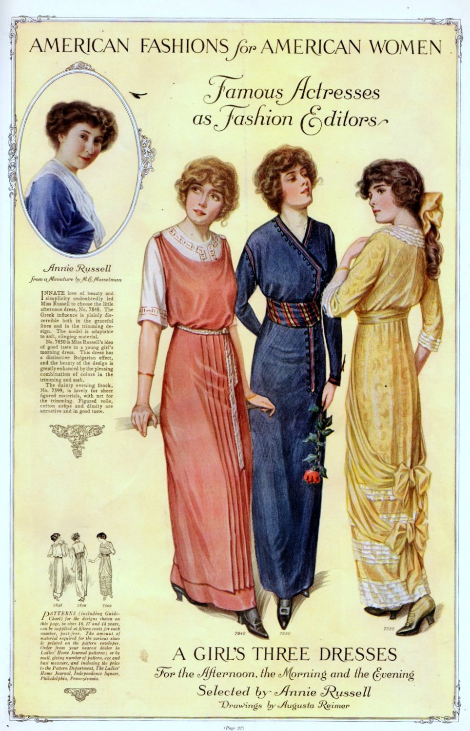 Fashion from 1913 as selected by Annie Russell