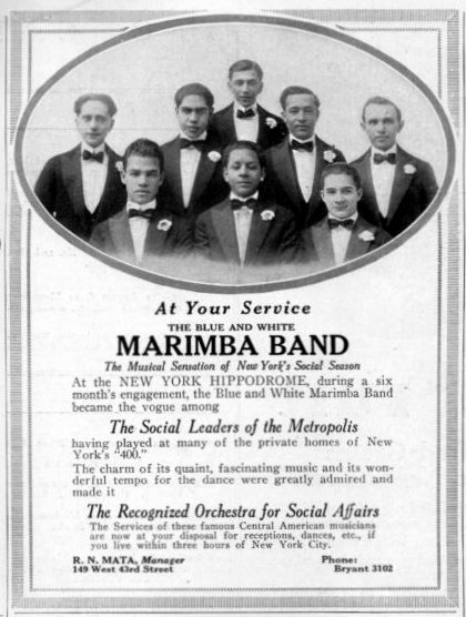 The Blue and White Marimba Band