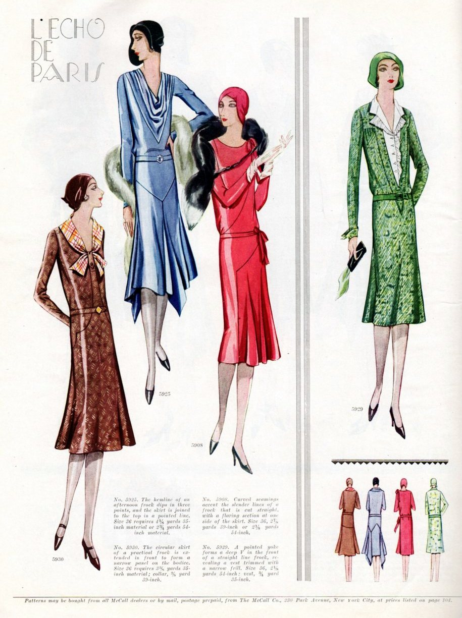 Vintage Art Deco Fashion From 1929