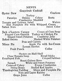 Thanksgiving tips and recipes from 1920