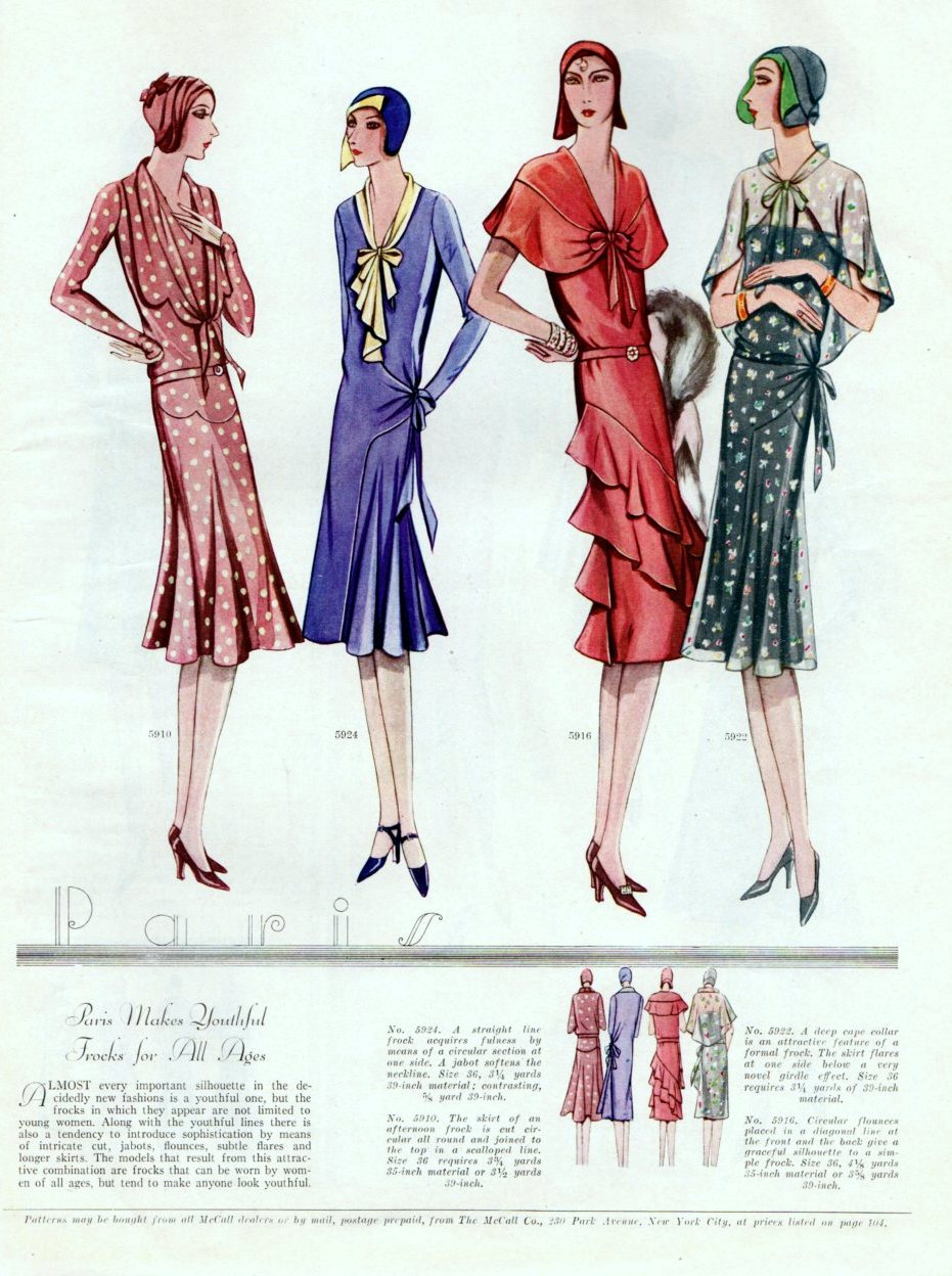 Vintage art deco fashion from 1929 for Art deco trend