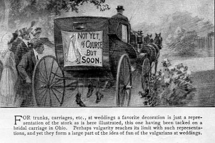 The problems caused by wedding horseplay in Edwardian times
