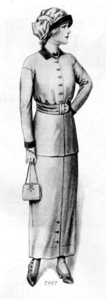 Clothes for the girl at the difficult age, meaning a teenager, from 1913