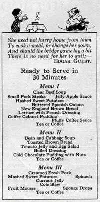 Recipe for Coffee Pudding and Fluffy Coffee Dessert Sauce, 1923