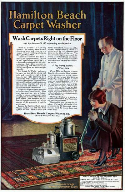 Vintage ads and advice on buying a vacuum cleaner, from 1920.