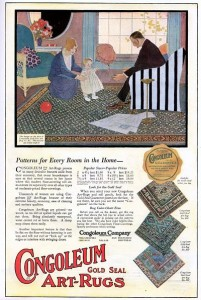 Vintage ad for Congoleum Gold Seal Art Rugs from 1920.